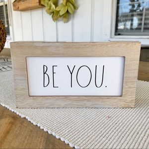 Rae Dunn | 'Be You' wood sign NWT